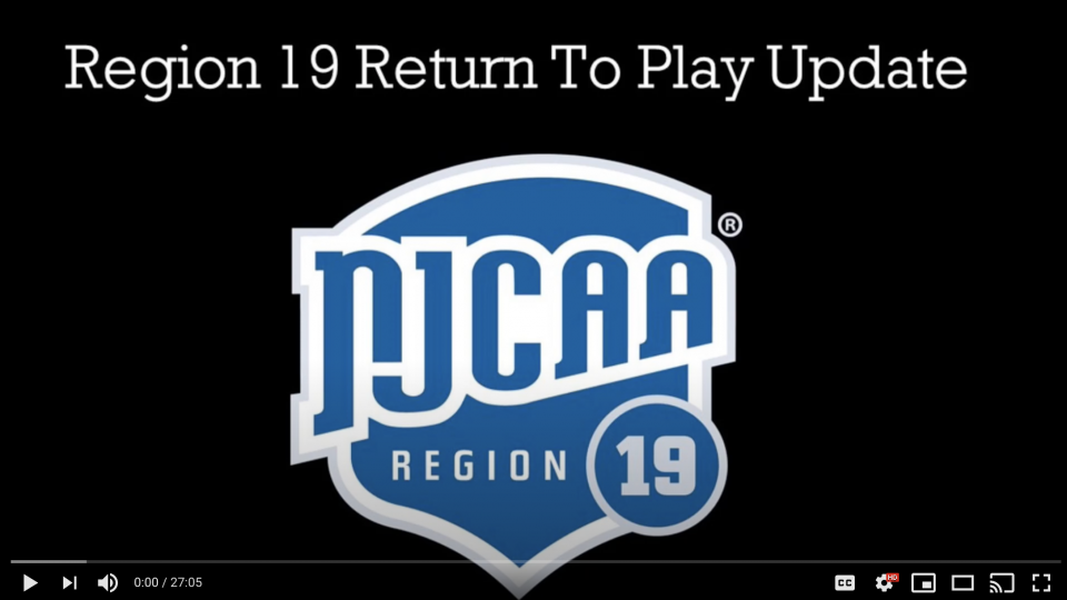 NJCAA Region 19 Return to Play Update with Dr. Borchers of USCAH